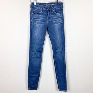 American Eagle Super Stretch Blue Jean Jegging